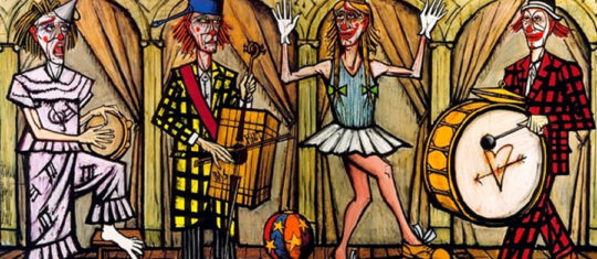 """Les clowns"" de Bernard Buffet"